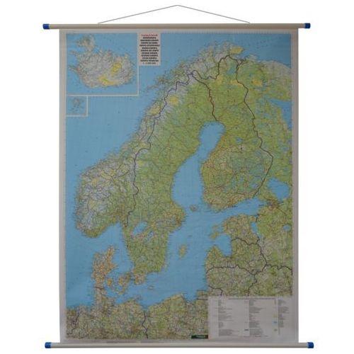 Skandynawia. Mapa ścienna drogowa 1:2 mln wyd. Freytag & Berndt, produkt marki Freytag&Berndt