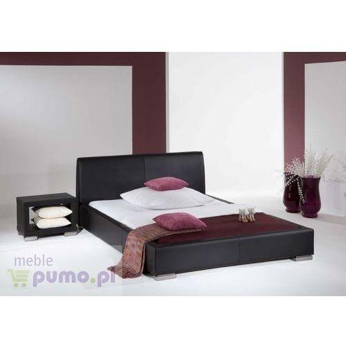 Komfortowe łóżko ALTINO w kolorze czarnym - 200x200cm ze sklepu Meble Pumo