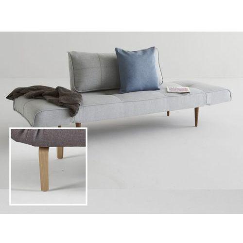 Sofa Zeal szara 552 nogi dąb lakierowany  740021552-2-740020-5, INNOVATION iStyle