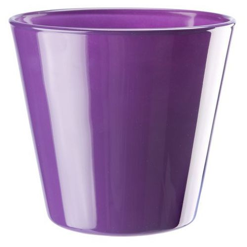 Osłonka szklana średnica 14 cm, fioletowa, produkt marki Galicja