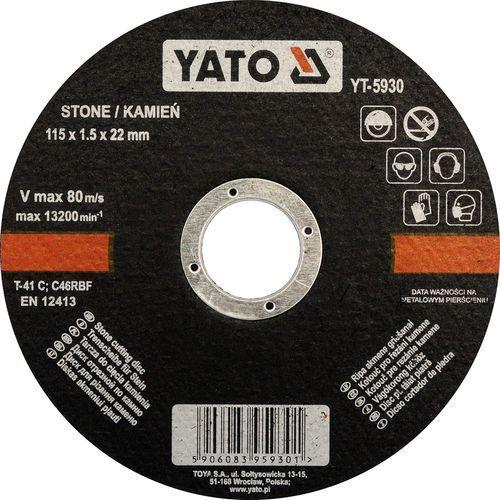 Oferta Tarcza do cięcia kamienia 115x1,5x22 mm YT-5930