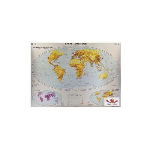 Świat. Ludność: odmiany cłowieka, migracje, religie, języki. Mapa ścienna świata, produkt marki Nowa Era