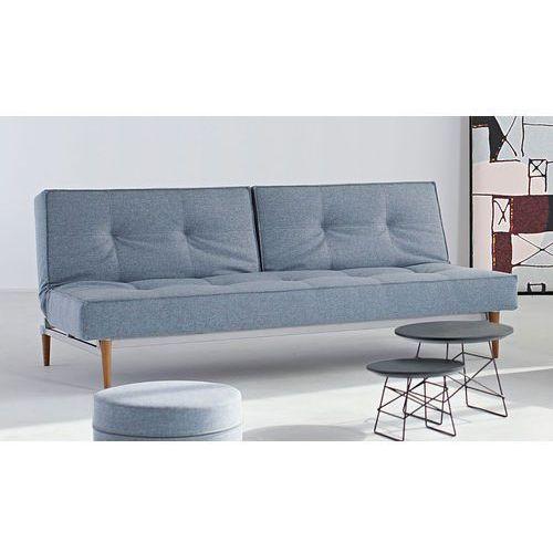 Istyle Splitback Sofa Rozkładana, jasno niebieska tkanina 525, nogi do wyboru - 741010525