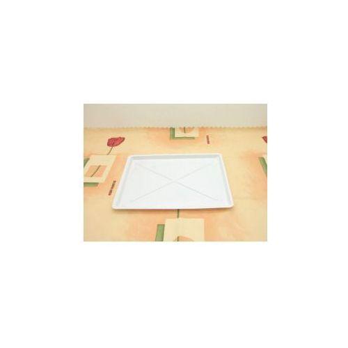 Produkt z kategorii- suszarki do naczyń - Rynienka zlewozmywakowa prostokątka biała