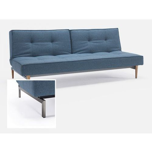Sofa Splitback niebieska 525 nogi stalowe  741010525-741010-8-2, INNOVATION iStyle