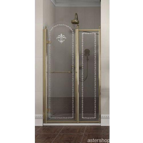 ANTIQUE drzwi prysznicowe do wnęki 110cm lewe szkło z wzorem GQ4611 (drzwi prysznicowe)