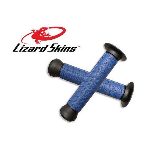 LZS-DDBDS400 Chwyty kierownicy LIZARDSKINS LOGO FLANGE DC 147 mm, niebieskie - oferta [059d487437e5b523]