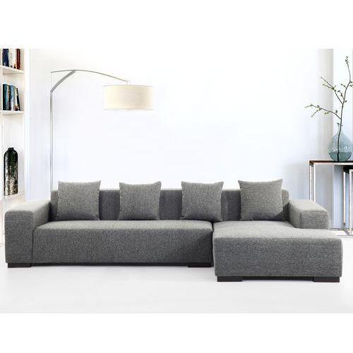 Sofa ciemnoszara - sofa narozna L - tapicerowana - LUNGO, Beliani