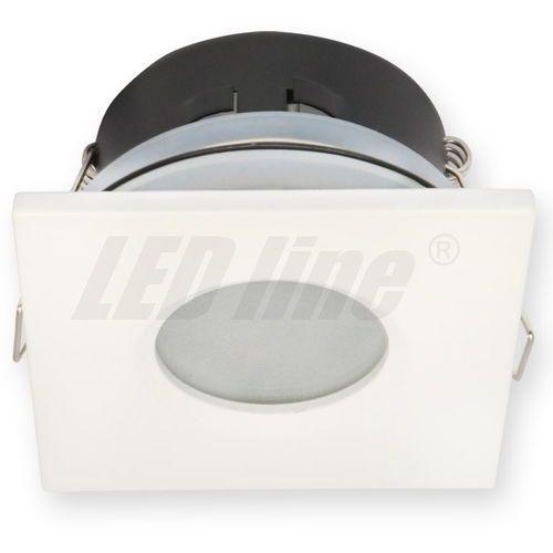 LED line Oprawa oprawka led halogenowa wodoodporna stała kwadratowa kolor biały IP65 245374 z kategorii oświetlenie