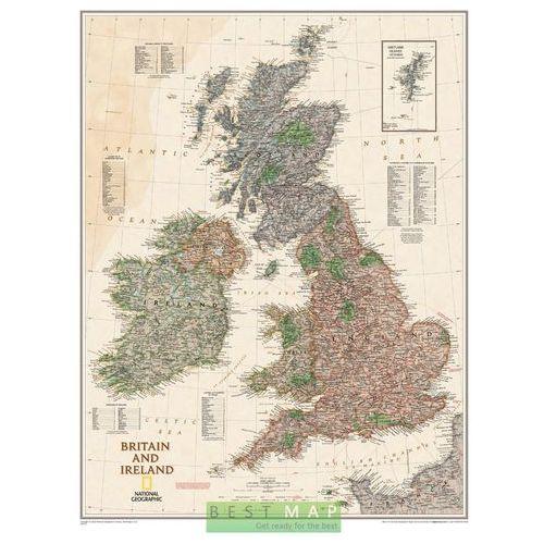 Wyspy Brytyjskie. Mapa ścienna Executive magnetyczna w ramie 1:1,7 mln wyd. , produkt marki National Geographic