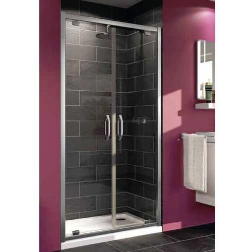 Huppe Ena Drzwi prysznicowe wahadłowe do wnęki lub do ścianki bocznej - 80/190 Srebry błyszczący Szkło p