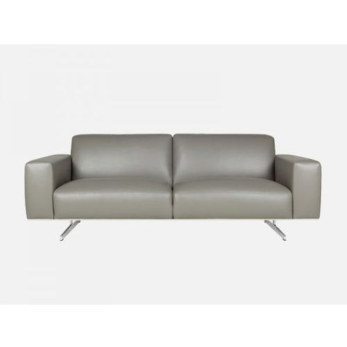 Sofa Linus 3 seater MATRIX dark grey skóra szara  E2777-0400-2S-MATRIXdg, Sits