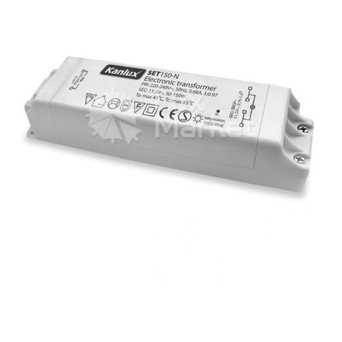 Kanlux - Transformator elektroniczny SET150-N 12V 50-150W - 1432 - Autoryzowany partner KANLUX. 10 lat w inter