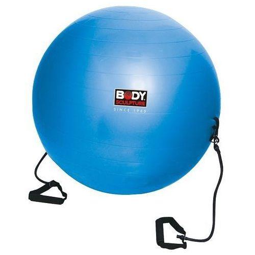 Piłka gimnastyczna antiburst z gumami fitness  - BB 001TR, produkt marki Body Sculpture