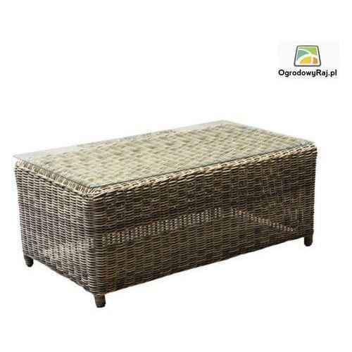 Stolik ogrodowy PANAMA ze szklanym blatem 110x60x45 cm PANAMA-STOLIK-TR-NAT.BEZ (stół ogrodowy)