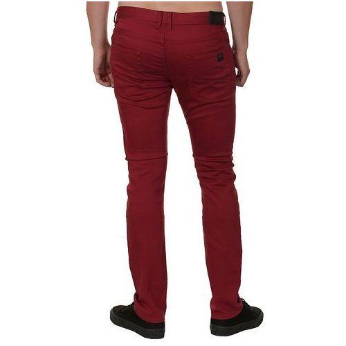 jeansy Quiksilver Distorsion Twill - RSG0/Sangria - produkt z kategorii- spodnie męskie