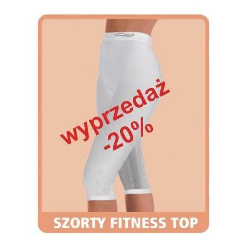 Artykuł Szorty przeciwcellulitowe fitness classic Top (wysoki stan) - białe z kategorii bielizna wyszczuplająca