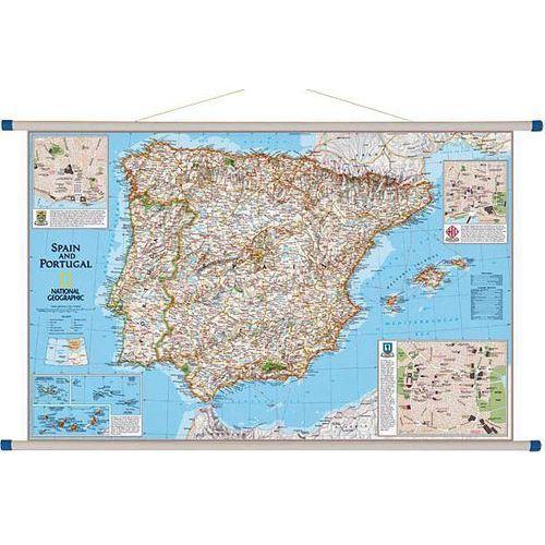 Hiszpania i Portugalia. Mapa ścienna 1:1,8 mln wyd. , produkt marki National Geographic