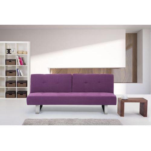 Rozkladana sofa ruchome oparcie - DUBLIN fuksja, Beliani