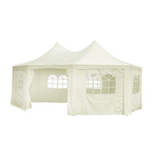 Namiot imprezowy, okrągły, kremowy, 8 ścian (6 x 4.4 x 3.5 m)., produkt marki vidaXL