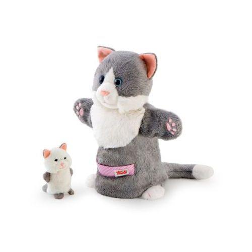 TRUDI Pacynka Kotek z maleństwem (pacynka, kukiełka)