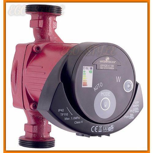 Towar z kategorii: pompy cyrkulacyjne - pompa elektroniczna GPA25-60-180 WEBERMAN 0502W do instalacji grzewczych i solarnych