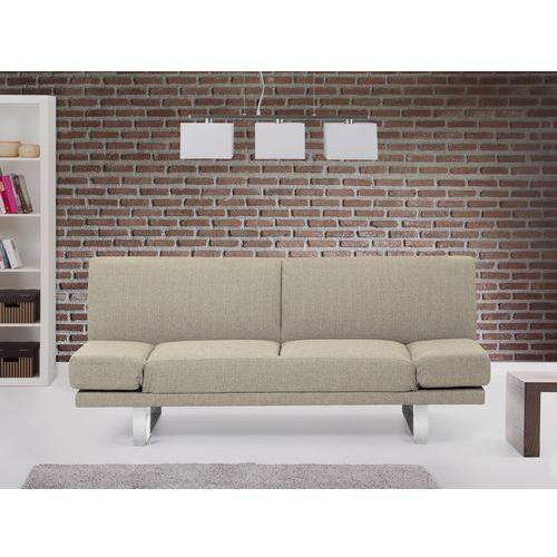 Rozkladana sofa ruchome podlokietniki - YORK bezowoszary, Beliani