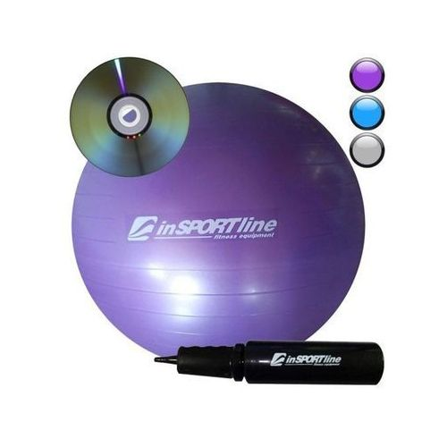 Produkt INSPORTLINE Comfort Ball 85 cm z pompką + DVD IN 3917-2 - Fioletowa - Piłka fitness