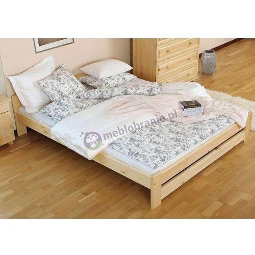 Łóżko 140x200 cm z drewna sosnowego Viva ze sklepu Meblobranie.pl
