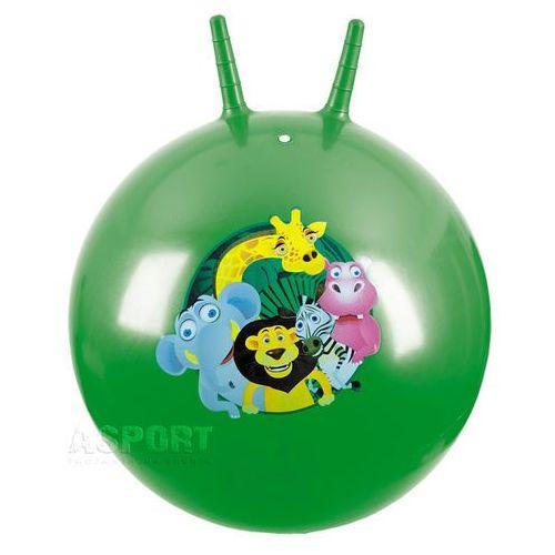 Piłka skacząca z rogami 60cm LEO zielona , produkt marki Spokey