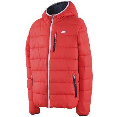 Dziecięca kurtka puchowa  T4Z14-JKUM003 czerwona, 4F z mSport