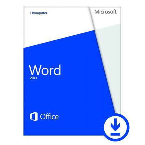 Microsoft Word 2013 - 1 komputer PC - Polski - Do pobrania - Niekomercyjna, kup u jednego z partnerów