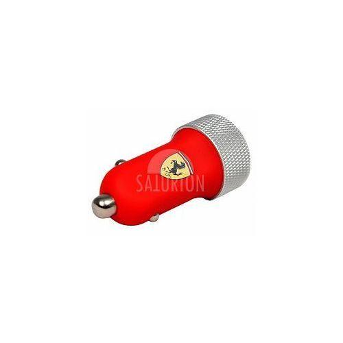 Produkt  Scuderia - Ładowarka samochodowa 2.1A 2xUSB + kabel micro USB (czerwony), marki Ferrari
