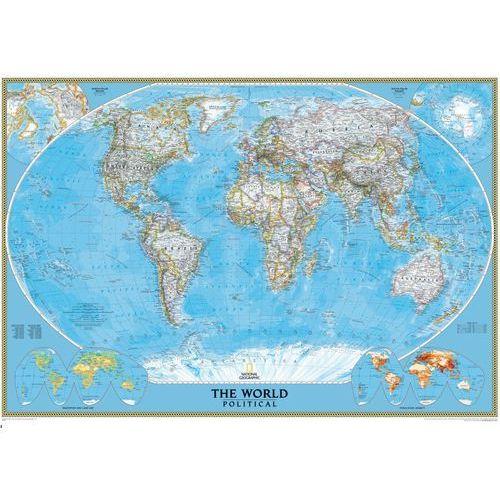 Świat. Mapa ścienna polityczna Classic magnetyczna w ramie 1:38,9 mln wyd. , produkt marki National Geographic