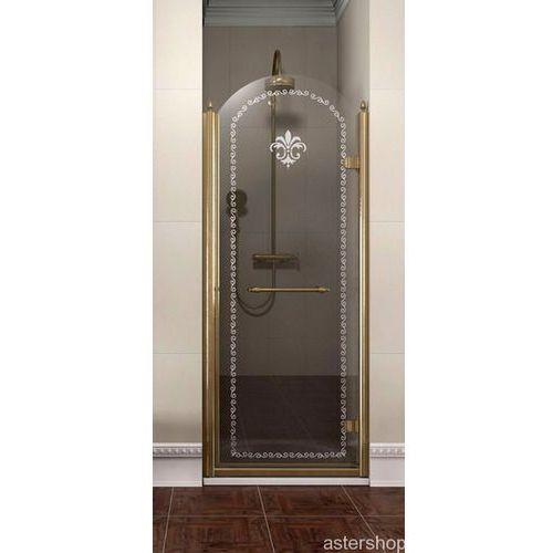 ANTIQUE drzwi prysznicowe do wnęki 80cm prawe szkło z wzorem GQ1380R (drzwi prysznicowe)