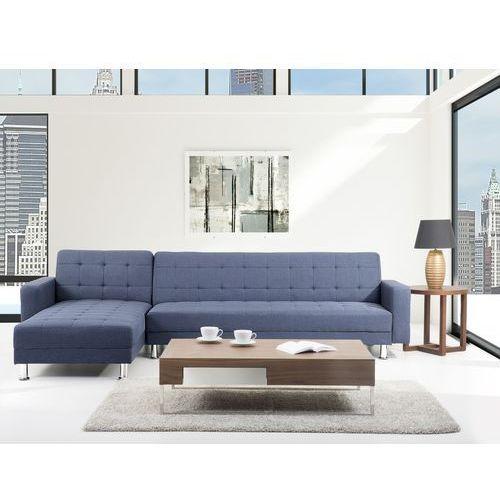 Sofa niebieska - Sofa narozna - Sofa rozkladana - Sofa tapicerowana - ABERDEEN, Beliani