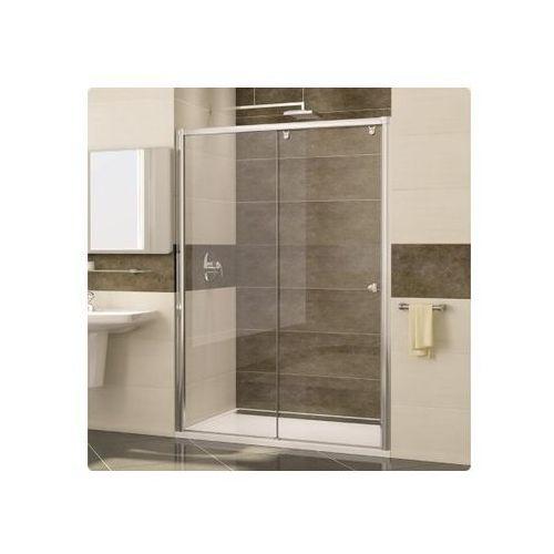 Ronal Pur Light S Drzwi prysznicowe dwuczęściowe - Mocowanie lewe 160/200 cm Srebry błyszczący Szkło Durl
