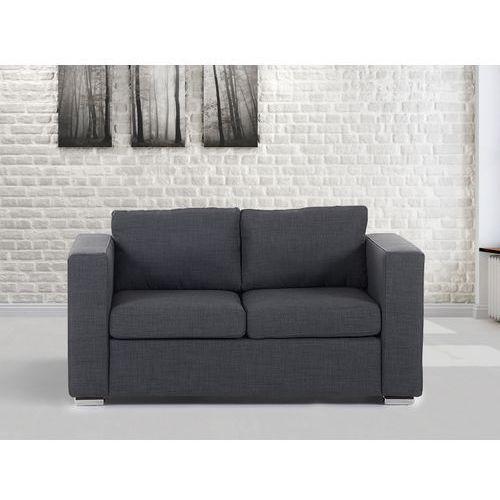 Sofa ciemnoszara - dwuosobowa - kanapa - sofa tapicerowana - HELSINKI, Beliani