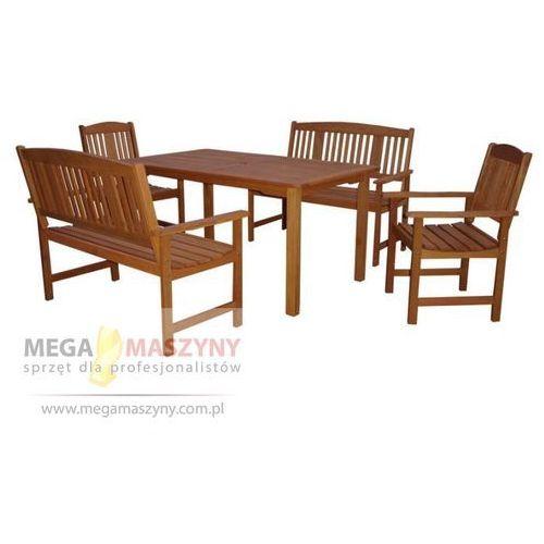 HECHT Zestaw ogrodowy - stół + 2 krzesła + 2 ławki Weekend (stół ogrodowy)