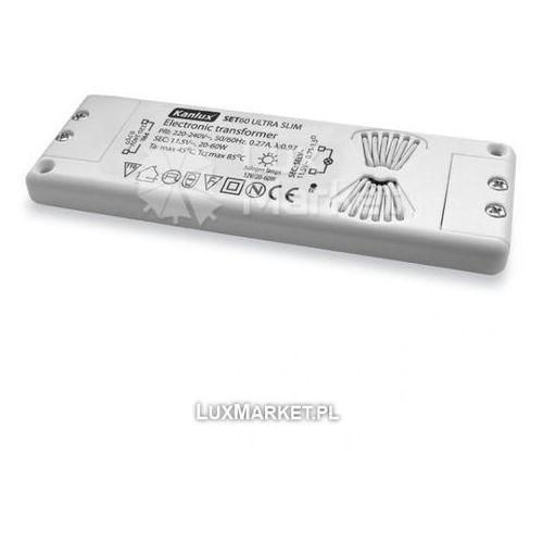 Kanlux - Transformator elektroniczny SET60 Ultra Slim 12V 20-60W - 1435 - Autoryzowany partner KANLUX. 10 lat