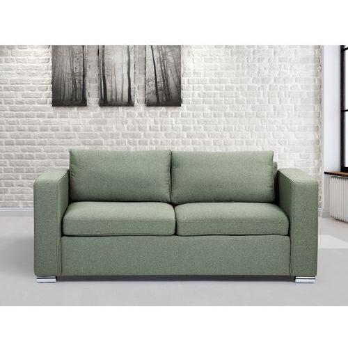 Sofa oliwkowa - trzyosobowa - kanapa - sofa tapicerowana - HELSINKI, Beliani