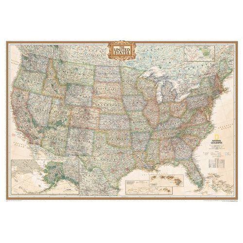 Stany Zjednoczne (USA). Mapa ścienna Executive magnetyczna w ramie 1:2,8 mln wyd. , produkt marki National Geographic