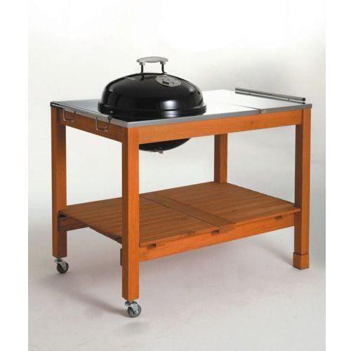 Grill kulisty 44 cm na stole drewnianym firmy  11484, produkt marki Landmann