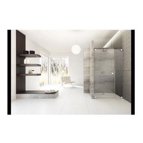 Huppe Studio Berlin Pure Drzwi prysznicowe bezramowe skrzydłowe z częścią boczną do wnęki Mocowanie lewe