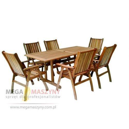 HECHT Zestaw ogrodowy - stół + 6 krzeseł Chicago ze sklepu Megamaszyny - sprzęt dla profesjonalistów