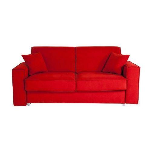 Mono Czerwona Sofa Rozkładana Tkanina 2 Osobowa - 79420
