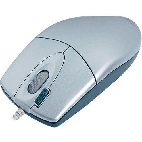 A4 Tech Mysz optyczna A4-TECH OP-620D, PS/2, przewodowa, 800 dpi, przycisk double-click, srebrna z kat. myszy, trackballe i wskaźniki