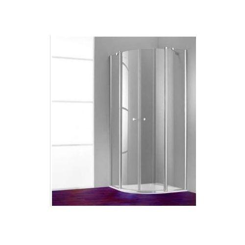HUPPE 501 DESIGN PURE 1/4 koła Drzwi skrzydłowe ze stałymi segmentami, 2-częściowe 510670 (drzwi prysznic