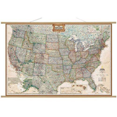 Stany Zjednoczne (USA). Mapa ścienna Executive 1:2,8 mln wyd. , produkt marki National Geographic