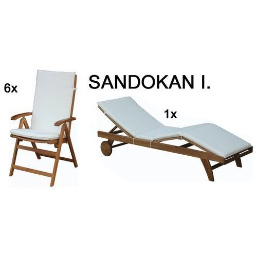 Fieldmann Zestaw pokrowców SANDOKAN I, białe - sprawdź w Mall.pl